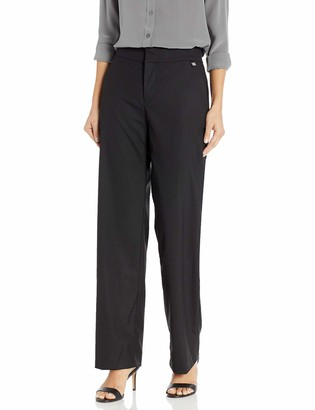Chaps Women's Plus Size Stretch Cotton Straight Fit Refined Suiting Pant