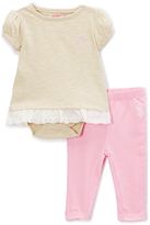 U.S. Polo Assn. Oatmeal Heather Skirted Bodysuit & Leggings - Infant