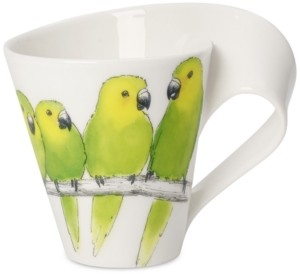 Villeroy & Boch New Wave Animal Collection Porcelain Brown-Throated Conure Mug
