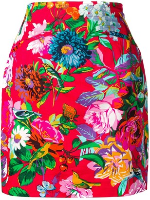 Kenzo Pre Owned Floral Print Skirt