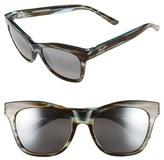 Maui Jim Women's 'Sweet Leilani' 53Mm Cat Eye Sunglasses - Brown Aquamarine/ Neutral Gray