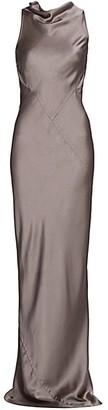 Rick Owens Skorpio Sleeveless Cutout Satin Gown