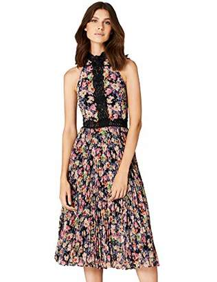 TRUTH & FABLE Women's Floral Maxi Halter Dress,6 (Manufacturer Size: XX-Small)