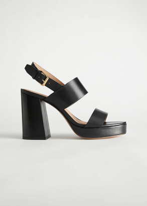 And other stories Leather Block Heeled Platform Sandals