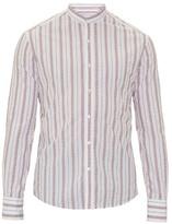 Michael Bastian Mandarin-collar Cotton Shirt