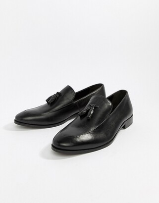 Zign Shoes tassel loafers in black leather