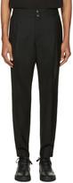 Public School Black Wool Jekon Trousers