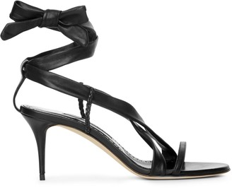 Manolo Blahnik Tor 70 black nappa sandals