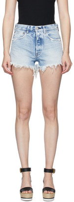 Moussy Blue Denim Tribbey Shorts