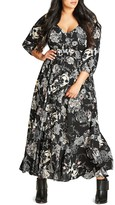 City Chic Lush Floral Maxi Dress