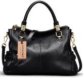 Jack&Chris® Women Vintage Leather Shoulder Handbags Top-handle Tote, SF0951
