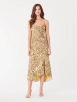 Diane von Furstenberg Isabella Satin-Blend Cowl-Neck Slip Dress