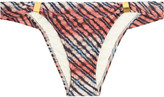 Vix Ripple low-rise printed bikini briefs