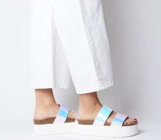 Office Mambo Flatform Two Strap Iridescent