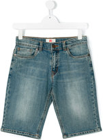 American Outfitters Kids - light wash denim shorts - kids - Cotton/Spandex/Elastane - 16 yrs