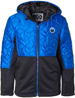 Big Chill I Extreme Boys' 4-7 I-Extreme Mixed Media Quilted Hooded Jacket