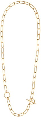 Wanderlust + Co Double Toggle Xl Chain Gold Link Necklace