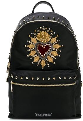 Dolce & Gabbana Stud Embellished Backpack