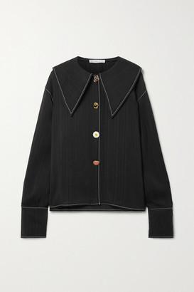 REJINA PYO Elliot Jacquard Shirt - Black