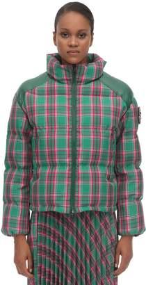 Moncler Chou Technical Check Nylon Down Jacket