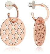 Rebecca Melrose Rose Gold Over Bronze Drop Hoop Earrings