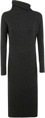 Fabiana Filippi High-neck Plain Ribbed Dress