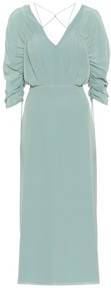 Victoria Beckham Silk crepe de chine midi dress