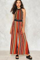 Nasty Gal nastygal All The Stripe Moves Jumpsuit