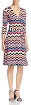 Leota Perfect Chevron Stripe Wrap Dress