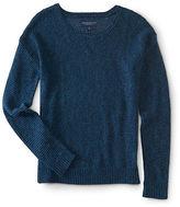 Aeropostale Womens Textured Stitch Crew-Neck Sweater
