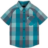 Hurley Toddler Boy Raglan Woven Plaid Shirt