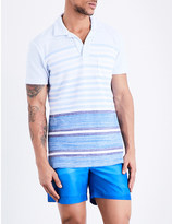 Orlebar Brown Striped cotton-towelling polo shirt