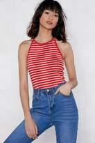 Nasty Gal Halter Ego Striped Top