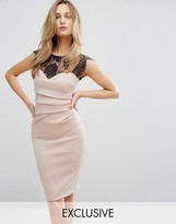 Lipsy Eyelash Lace Bodycon Dress