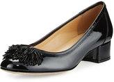 Sesto Meucci Flynn Ornament Patent Low-Heel Pump, Black