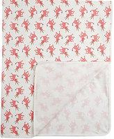 Oeuf Unicorn-Pattern Organic Pima Cotton Swaddle Blanket-PINK