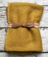Mustard Swaddling Blanket & Bow Headband