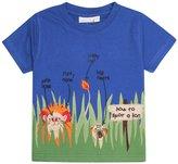 Jo-Jo JoJo Maman Bebe Lion T-Shirt (Baby)-Cobalt-6-12 Months