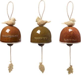Precious Moments Garden Delights Bird Trio Set of Three Hanging Bells