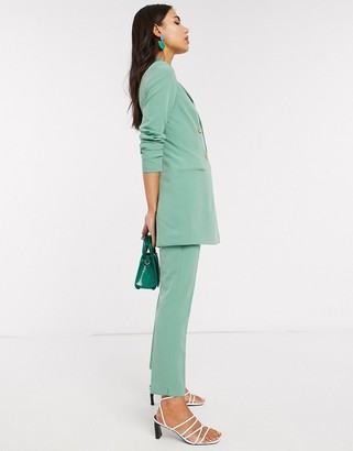 Stradivarius double breasted blazer dress in green