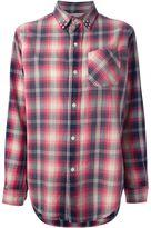 studded plaid shirt