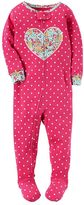 Carter's Toddler Girl Applique Floral Footed Pajamas