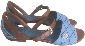 Louis Vuitton Blue Leather Sandals