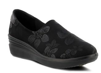 Noral-Flower Wedge Slip-On