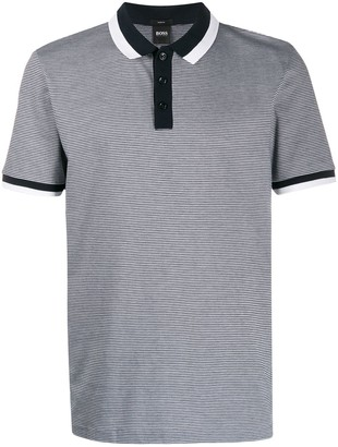 HUGO BOSS Striped Cotton Polo Shirt