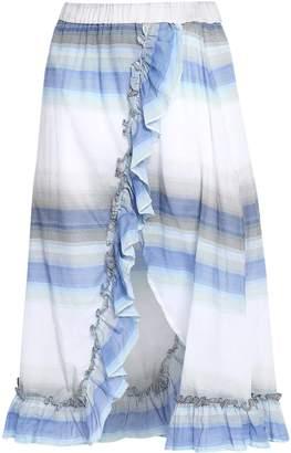 Lemlem Banu Wrap-effect Striped Cotton-gauze Skirt