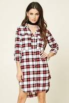 Forever 21 FOREVER 21+ Plaid Flannel Shirt Dress