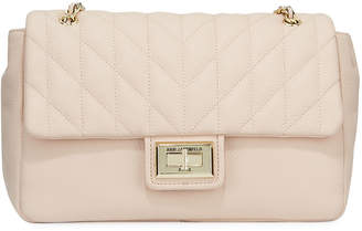 Karl Lagerfeld Paris Agyness Quilted Leather Shoulder Bag