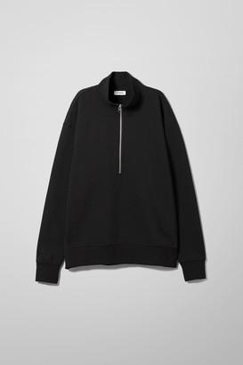 Weekday Jive Half Zip Sweatshirt - Black