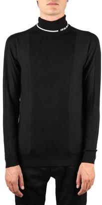 Emporio Armani Black Wool Pullover With Logo